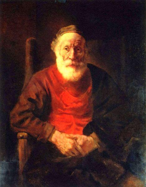 Rembrandt - Vieil homme dans le fauteuil